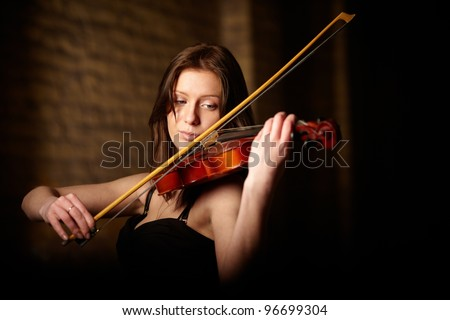 portrait of musician - stock photo
