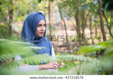Portrait of Muslim Woman.