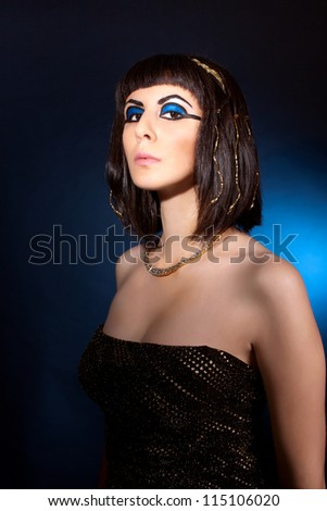 portrait of naughty woman in Cleopatra style - stock photo