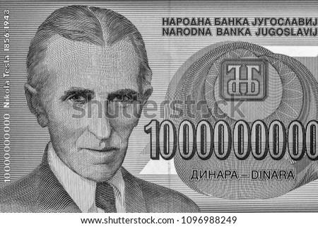 Portrait Nikola Tesla Famous Inventor On Stock Photo Edit Now