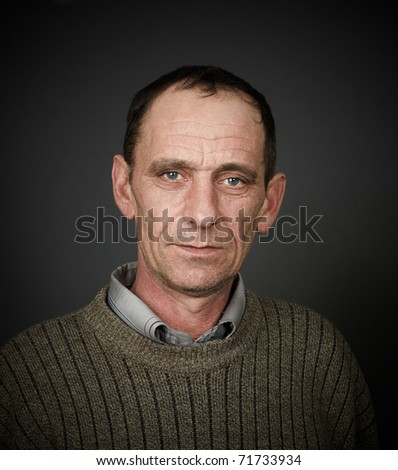 portrait of old man - stock photo