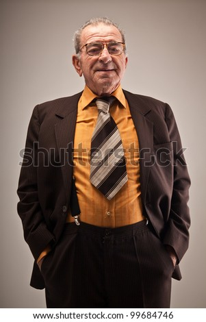 Portrait old man suit stock photo safe to use 99684746 shutterstock portrait of old man in suit publicscrutiny Images