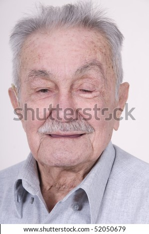 Portrait of old pretty man