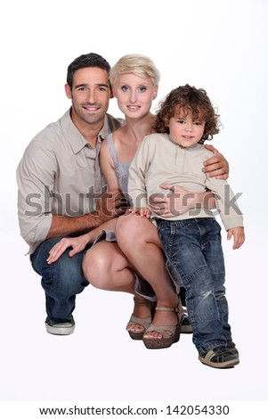 Portrait of parents with child