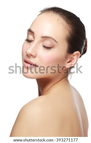 Portrait of pensive but cheerful woman holding glasses
