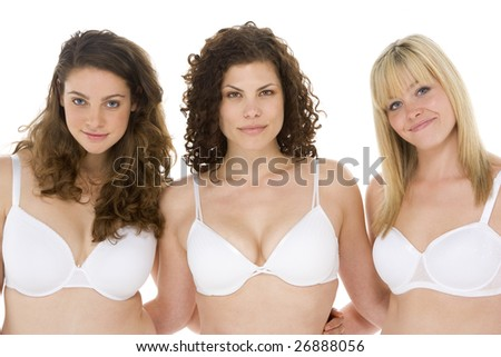 Portrait Of Plus Size Women In Their Underwear