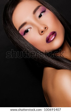 portrait of pretty asian woman