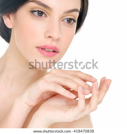 Portrait of pretty young sexy woman  - stock photo