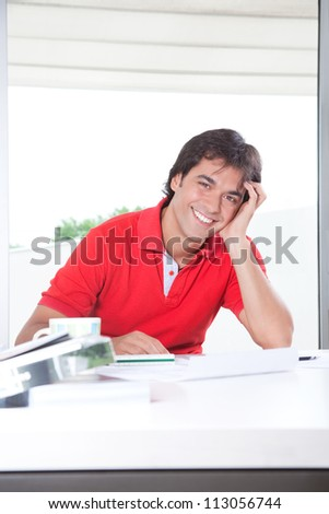 Portrait of professional architect smiling and looking at camera