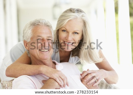 Portrait Of Romantic Senior Couple - stock photo