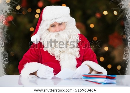 Awesome Santa Checking List Stock Photos Royalty Free Images Vectors Easy Diy Christmas Decorations Tissureus