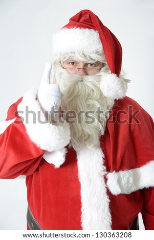 portrait of santa clause - stock photo