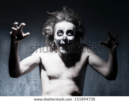 Portrait of scary ghost on halloween - stock photo