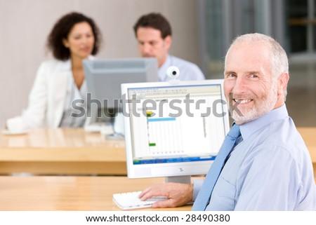 Portrait of Senior business man - stock photo