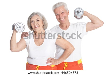 Portrait of Senior Couple Exercising