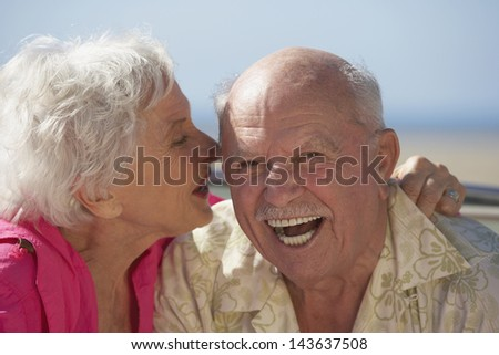 Portrait of senior couple laughing