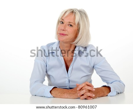 Portrait of senior woman with bored expression