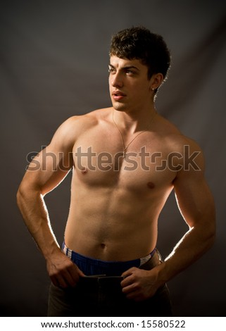 Portrait of sexy and muscular young man