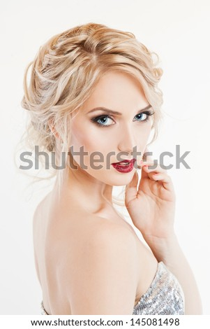 portrait of sexy blonde girl