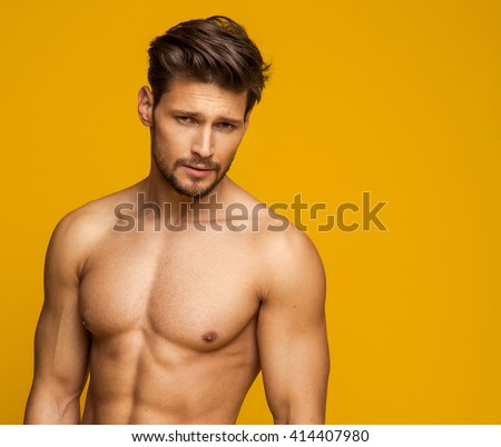 Portrait Of Sexy Male Model - stock photo