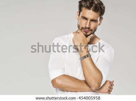 Portrait of sexy man