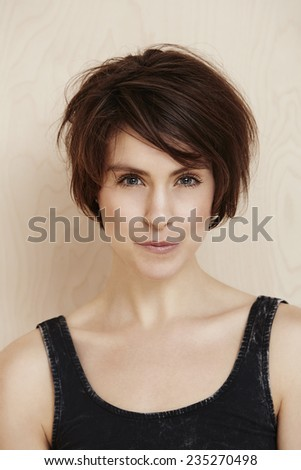 Portrait of sexy mid adult woman in studio