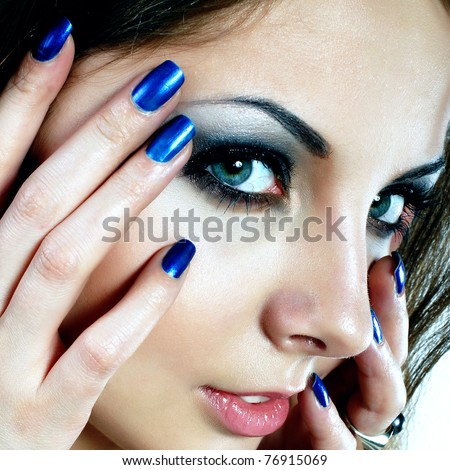 Portrait of sexy mysterious woman - stock photo