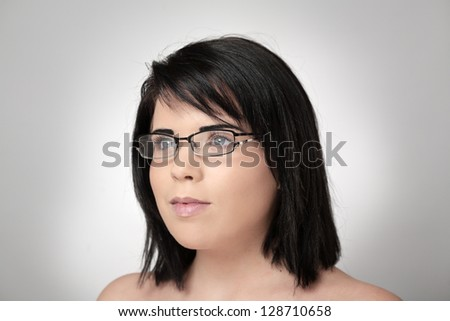 portrait of sexy woman wearing glasses
