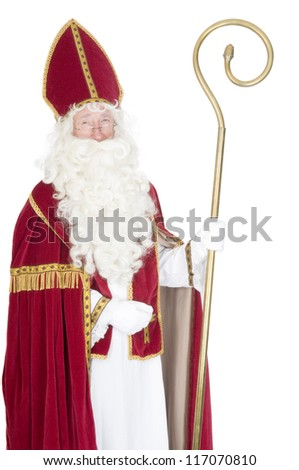 Portrait of Sinterklaas - stock photo