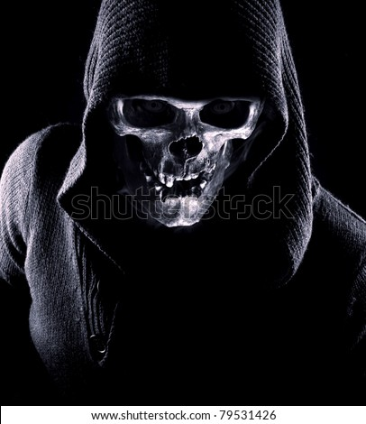 Portrait of skull - stock photo
