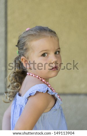 Portrait of small  girl