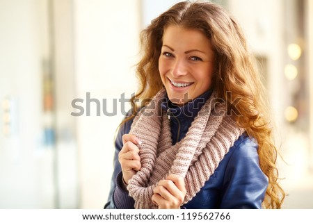 Portrait of smiling beautiful woman on a sunny day