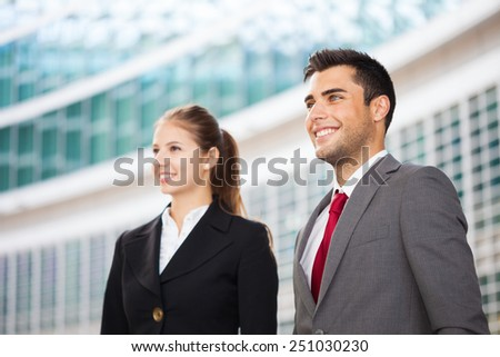 Portrait of smiling business partners - stock photo