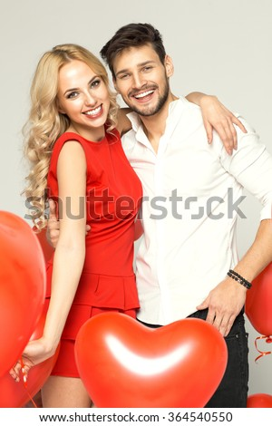 Portrait of smiling couple. Valentine's day