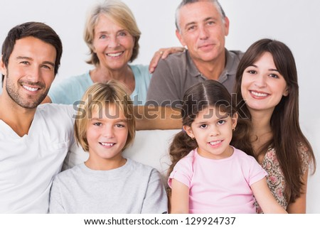 Portrait of smiling three generation family