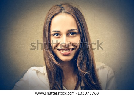 portrait of smiling woman - stock photo