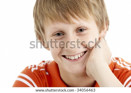 Portrait Of Smiling 12 Year Old Boy