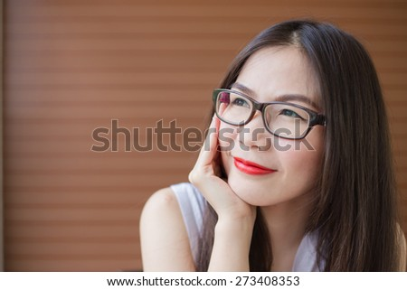 Portrait of smilling asia woman