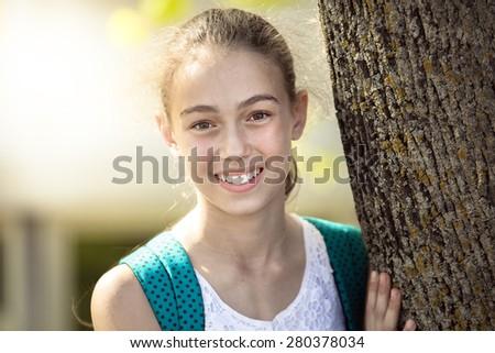 Portrait of student - stock photo