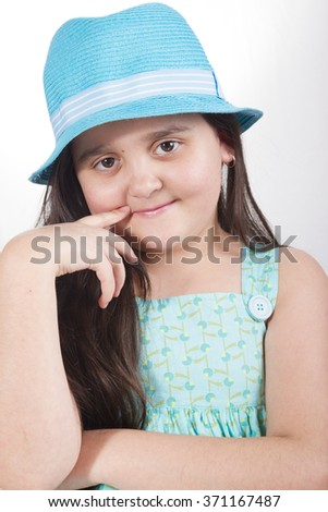 Portrait of stylish girl