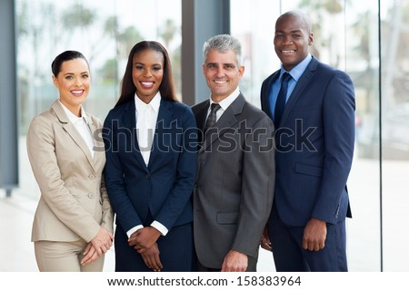 portrait of successful businesspeople team - stock photo
