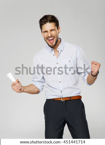 Portrait of successful man  - stock photo