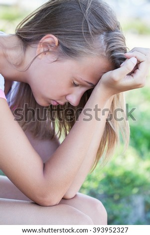 portrait of teen girl in a crisis situation