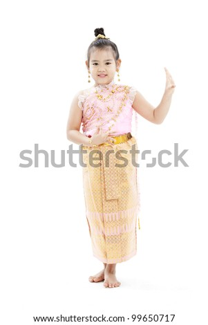 portrait of Thai girl