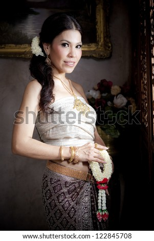 Portrait of Thai woman