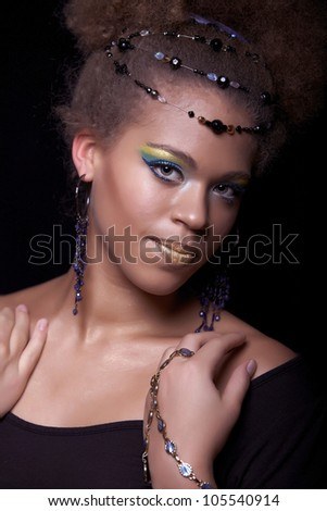 Portrait of the african woman - stock photo