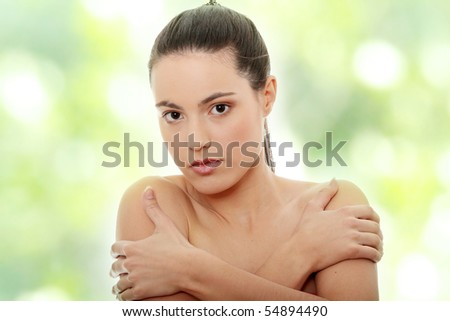Portrait of the attractive girl without a make-up