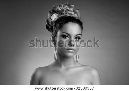 Portrait of the beautiful  girl
