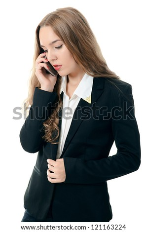 Portrait of the businesswoman speaking by phone