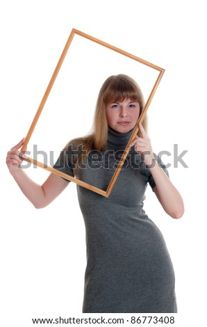 Portrait of the girl in a frame